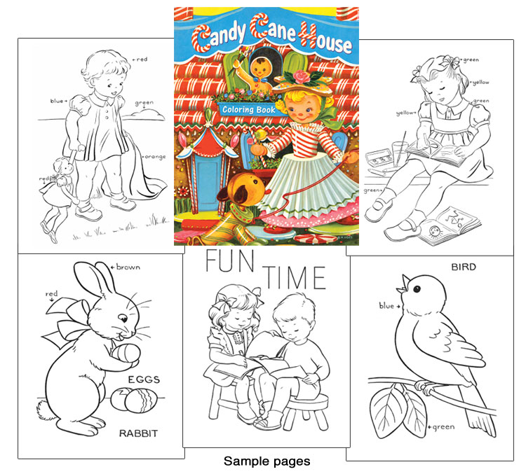 Candy Cane House Coloring Book