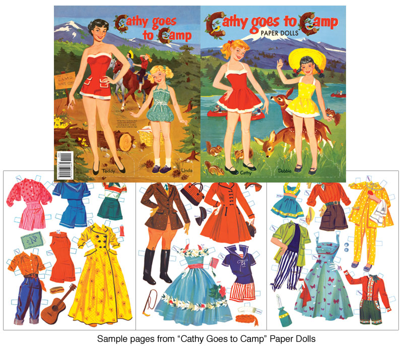 Cathy Goes to Camp Paper Dolls