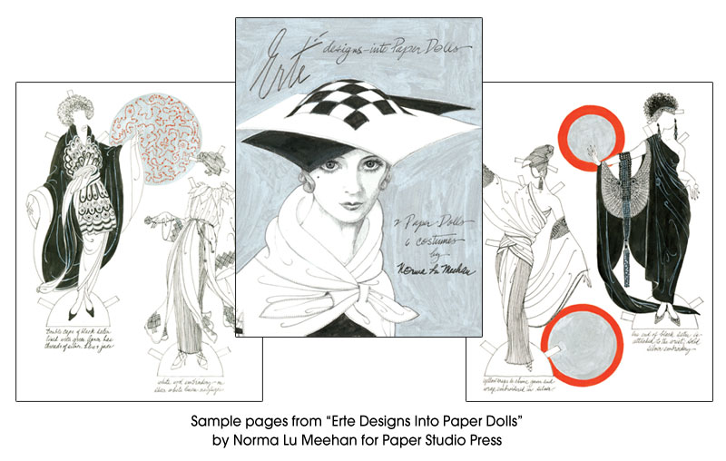 Erte Designs Into Paper Dolls - Limited Edtion