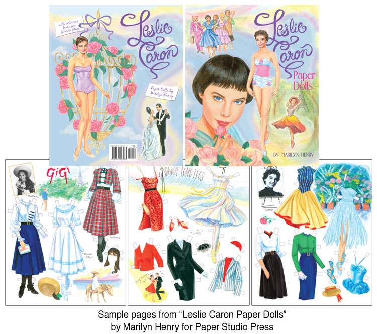 Leslie Caron Paper Dolls The Lovely Leslie Caron    Paper