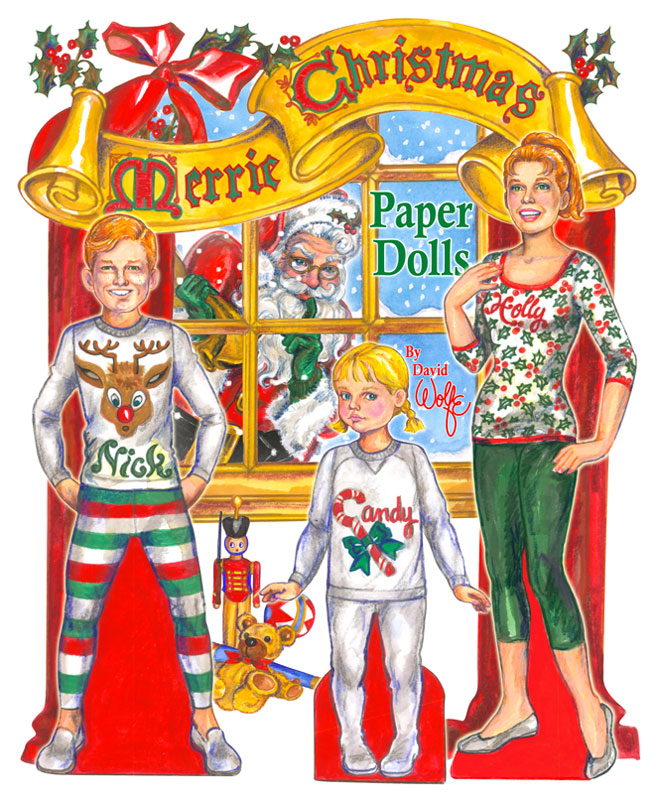 Merrie Christmas Paper Dolls - Click Image to Close