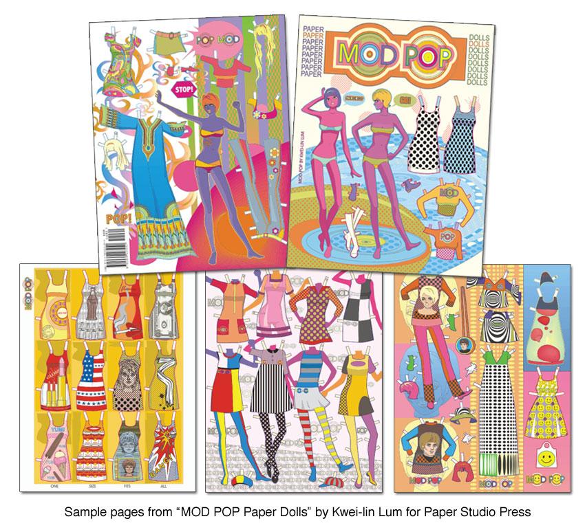 MOD POP Paper Dolls Super fun mod fashions 1295 Paper – Sample Paper Doll