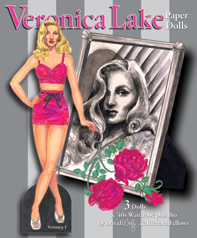 Veronica Lake Paper Dolls Hollywoods Peek A Boo Pinup 1200