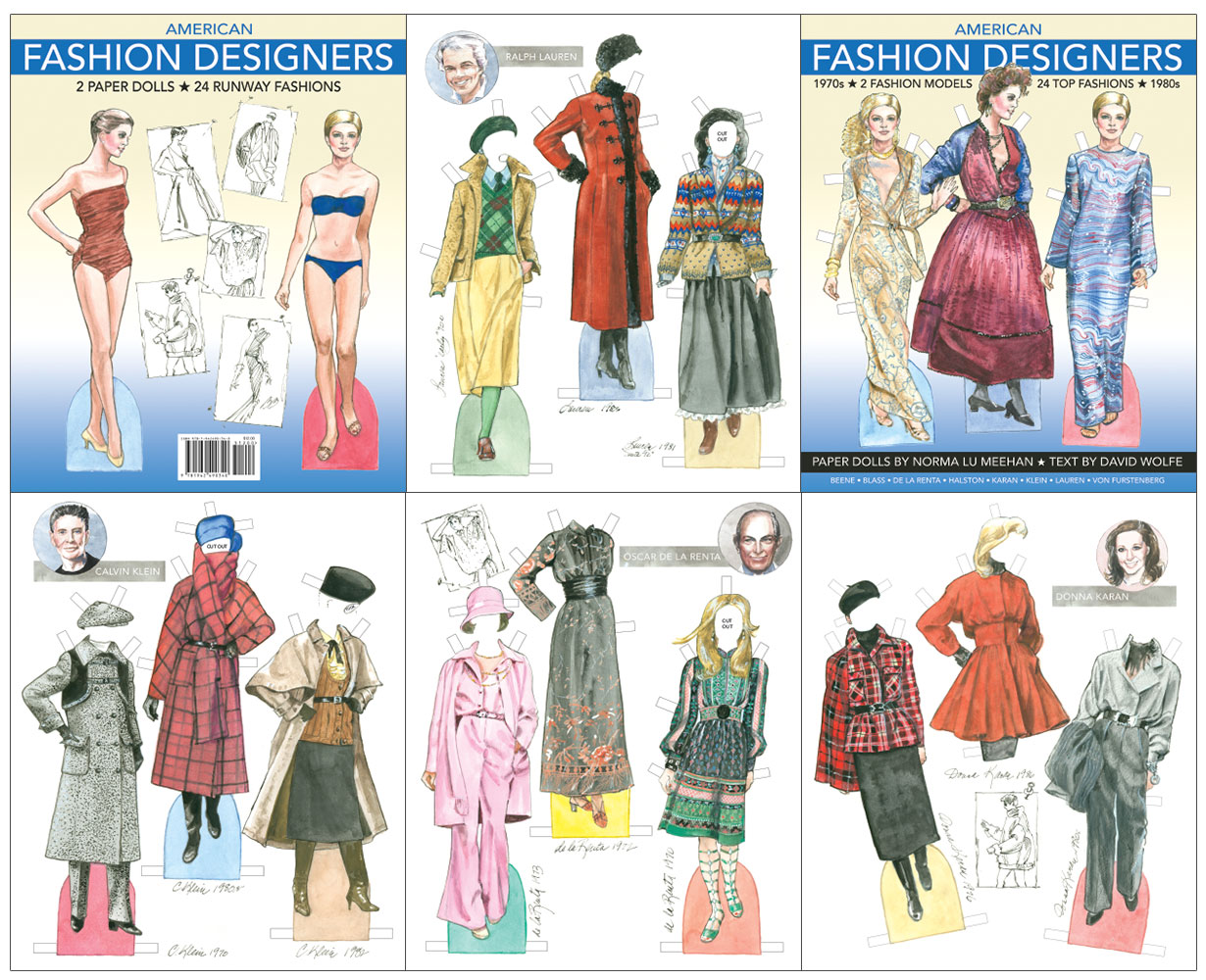 American Fashion Designers Paper Dolls