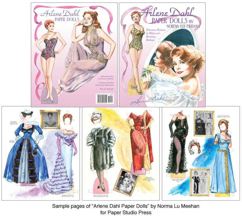 Arlene Dahl Paper Dolls HollywoodS Technicolor Beauty