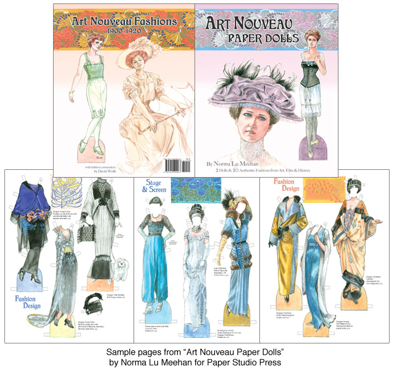 Art Nouveau Paper Dolls - Click Image to Close