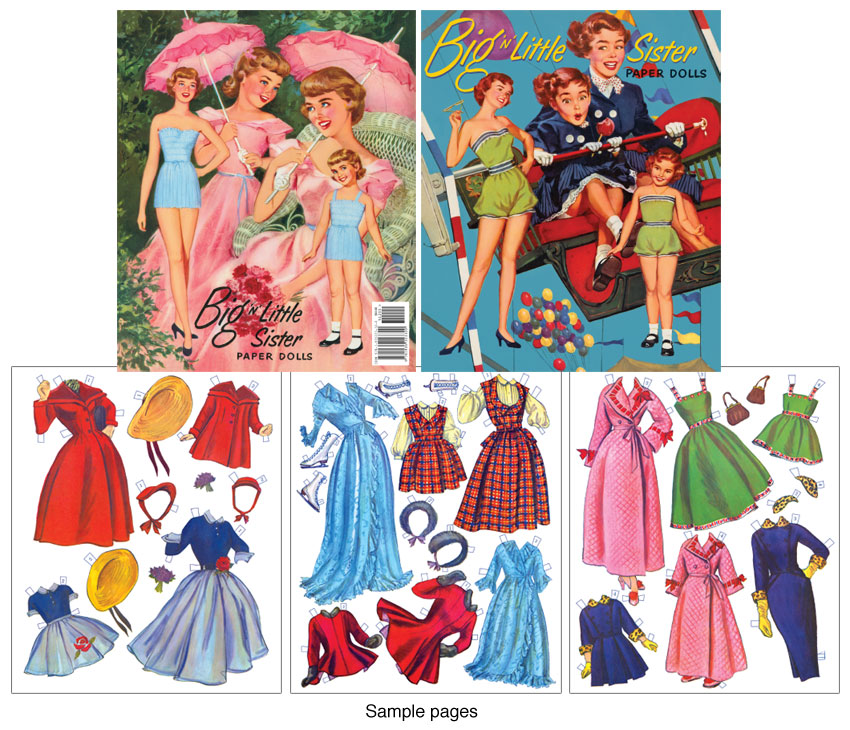 Big 'n' Little Sister Paper Dolls
