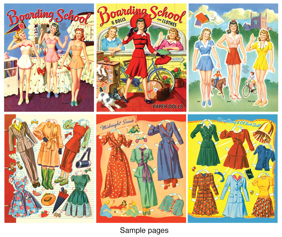 Boarding School Paper Dolls