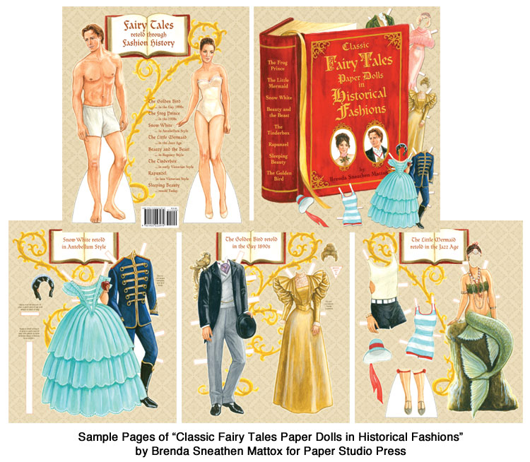 Classic Fairy Tales Paper Dolls in Historical Fashion