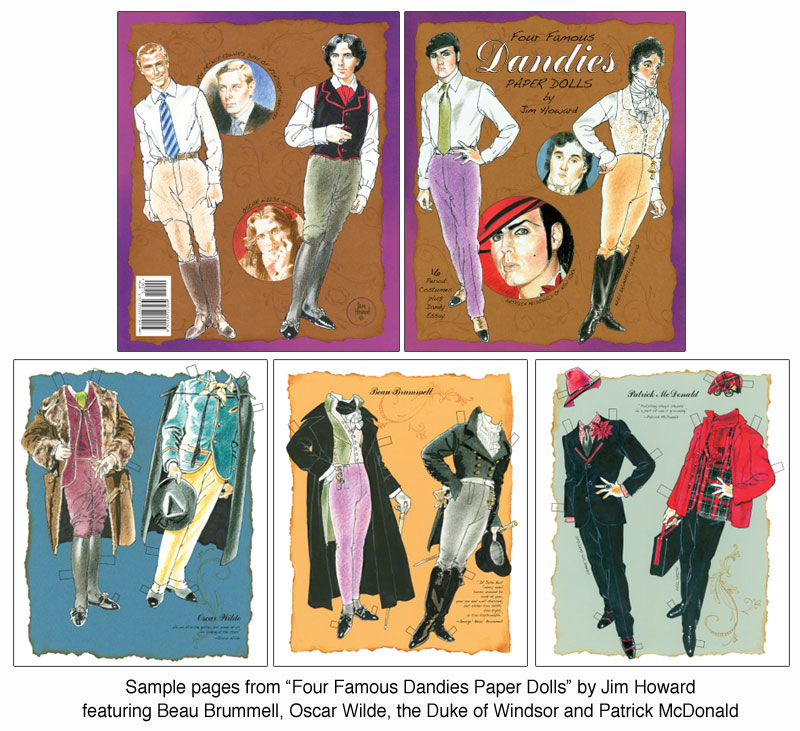 Four Famous Dandies Paper Dolls - Click Image to Close