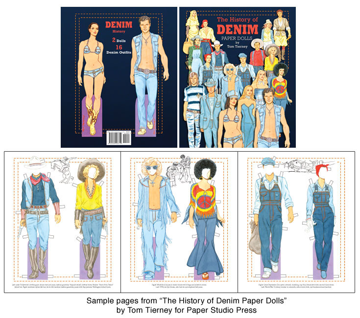 The History of Denim Paper Dolls by Tom Tierney