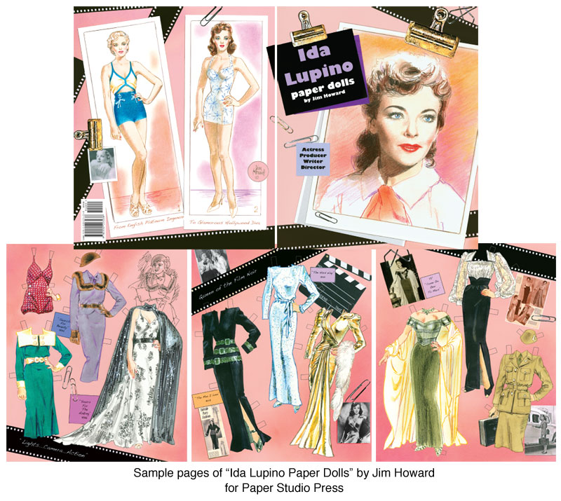 Ida Lupino Paper Dolls Hollywood Actress  Director
