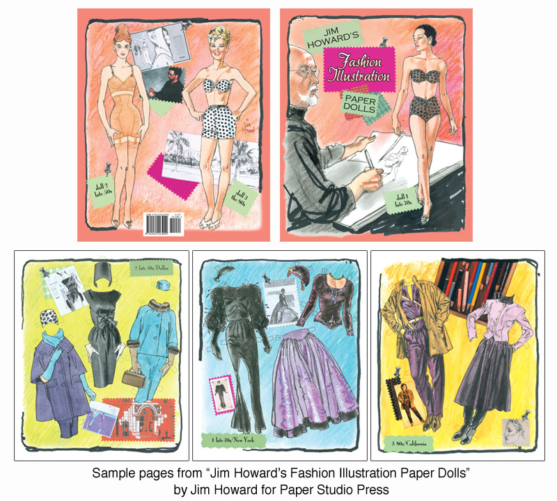 Jim Howard's Fashion Illustration Paper Dolls