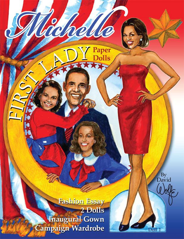 Michelle First Lady Paper Dolls