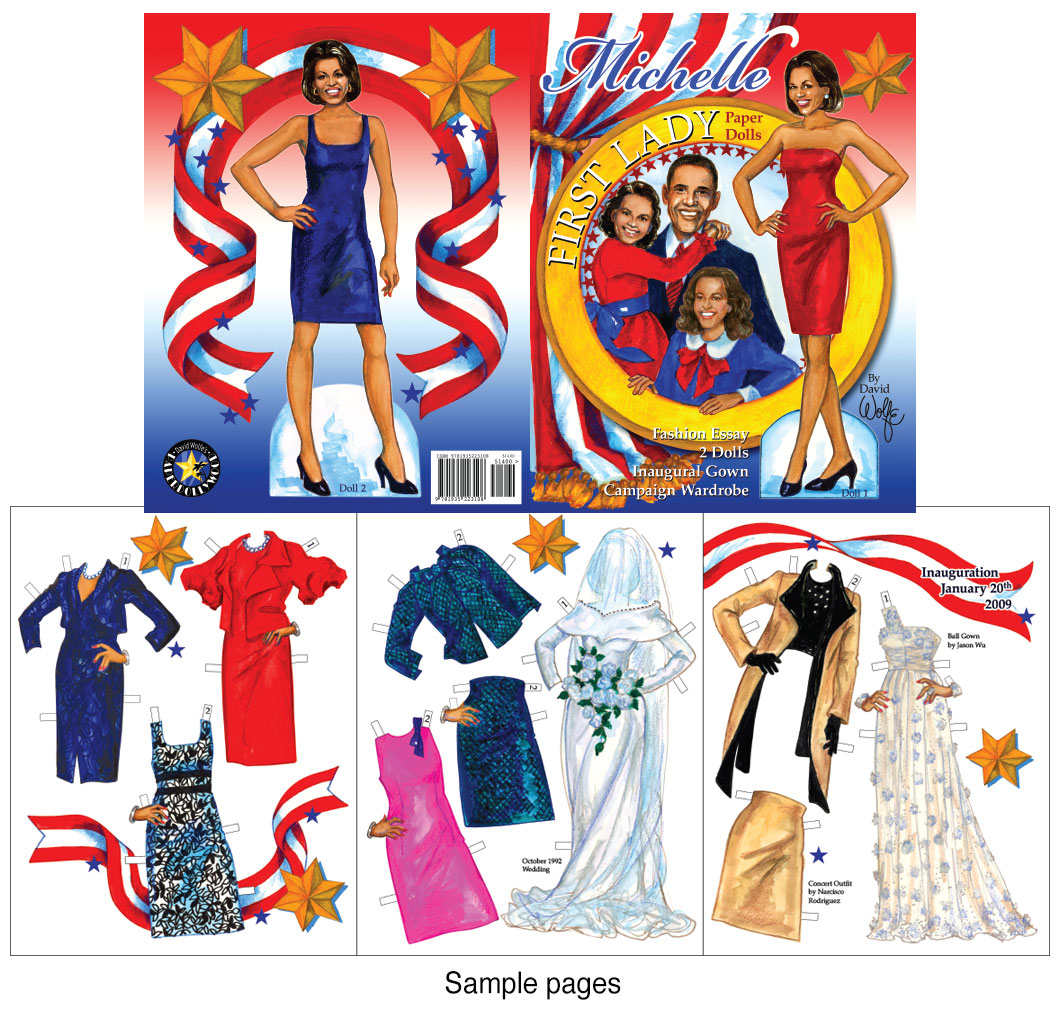 Michelle First Lady Paper Dolls - Click Image to Close