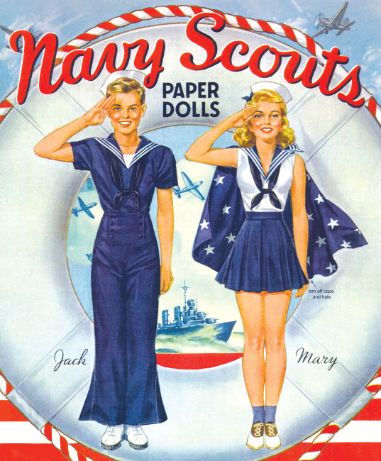 Navy Scouts Paper Doll - Click Image to Close