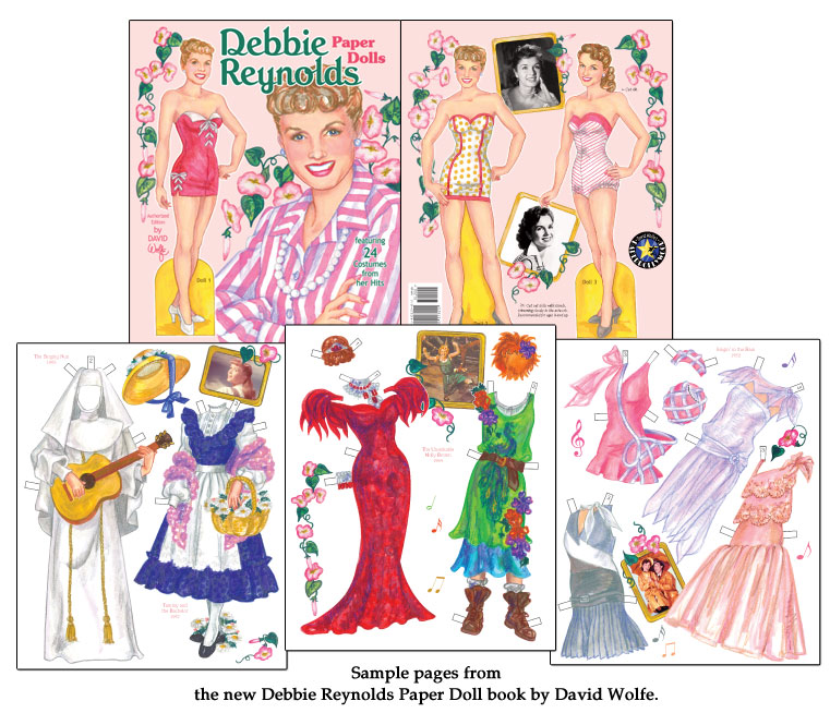 Debbie Reynolds Paper Dolls Featuring 24 Costumes from Her Hits