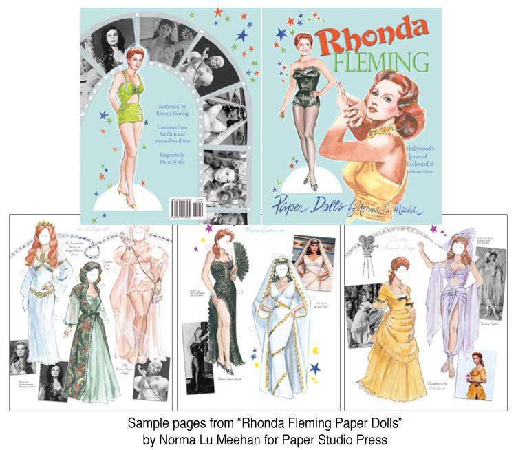 Rhonda Fleming Paper Dolls By Norma Lu Meehan