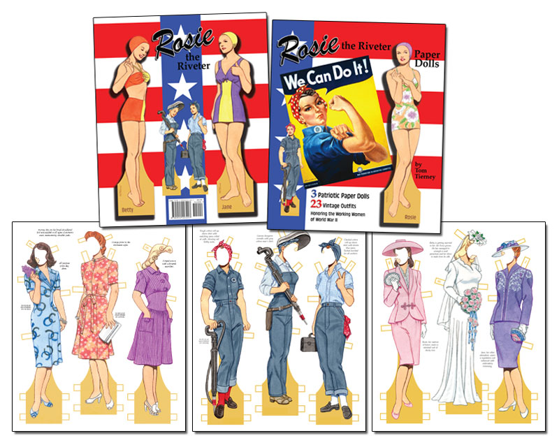 Rosie the Riveter Paper Dolls by Tom Tierney - Click Image to Close