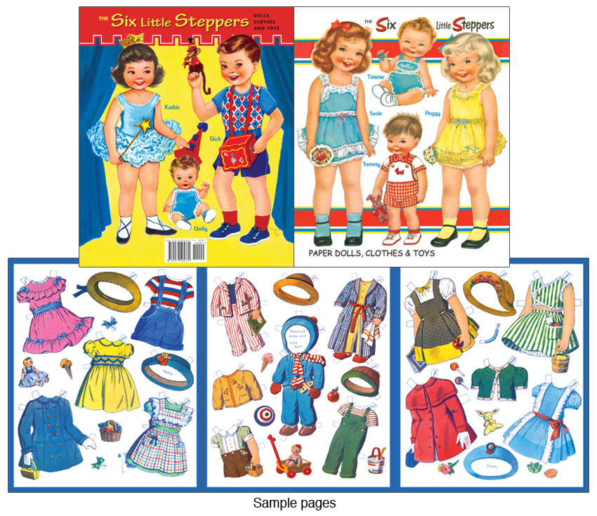 Six Little Steppers Paper Dolls [Sweet Paper Doll By Charlot Byj