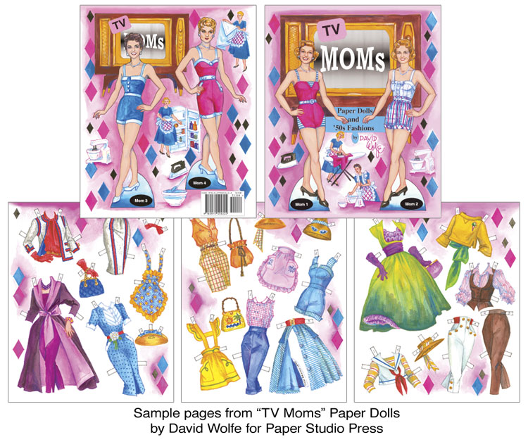 TV Moms Paper Dolls and 50s Fashions