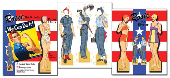 Rosie the Riveter Paper Dolls